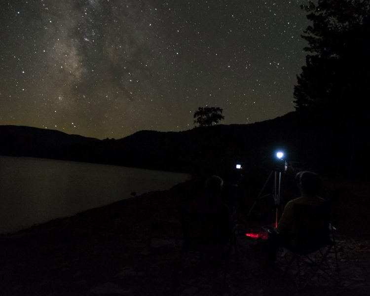 Mark and a friend at Switzer Lake photographing the persied meteor shower in 2015