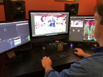 Mark editing a commercial