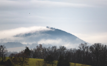 A misty mountain in the Shenandoah Valley