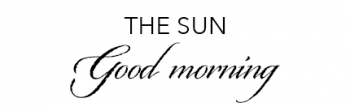 The Sun: Good Morning font example